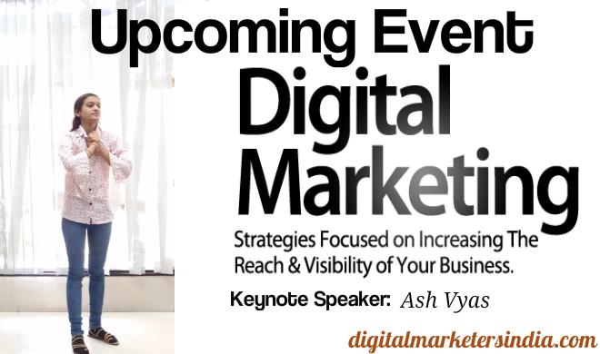 Digital Marketing for Business Growth Event in Surat - Ash Vyas - Keynote Speaker
